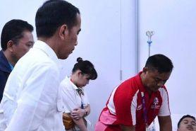 Datangi ruang perawatan, Jokowi puji perjuangan Ginting di lapangan