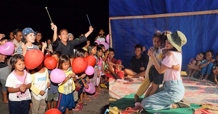 Bertemu Menteri Susi, ini 7 potret Andien bantu korban Gempa Lombok