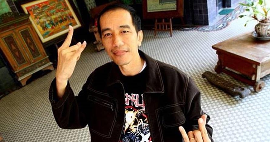 Potret mirip Jokowi bergaya punk ini viral, ada kisah unik di baliknya
