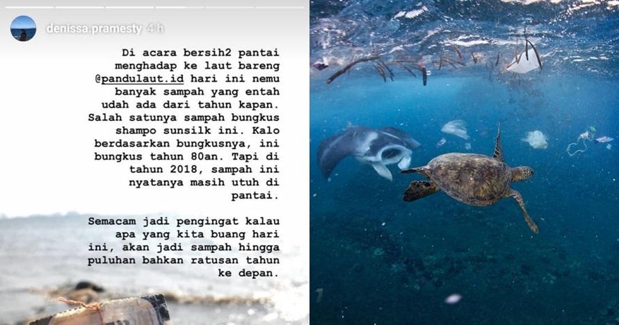 Pungut sampah laut, yang ditemukan cewek ini bikin terkejut