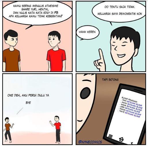 komik satir banget istimewa
