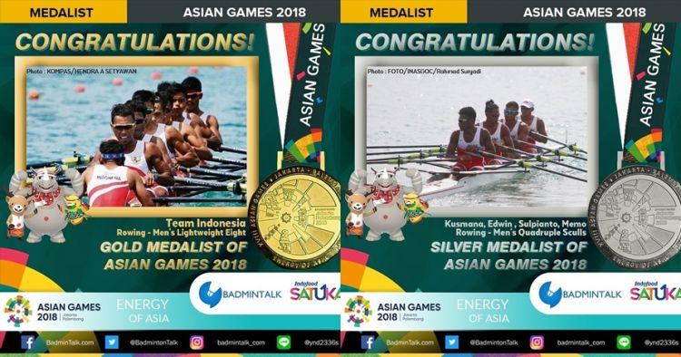 Indonesia tambah 1 emas dan 1 perak dari cabang olahraga dayung