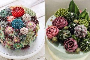 10 Kreasi terrarium cake ini cantiknya bikin sayang buat dimakan