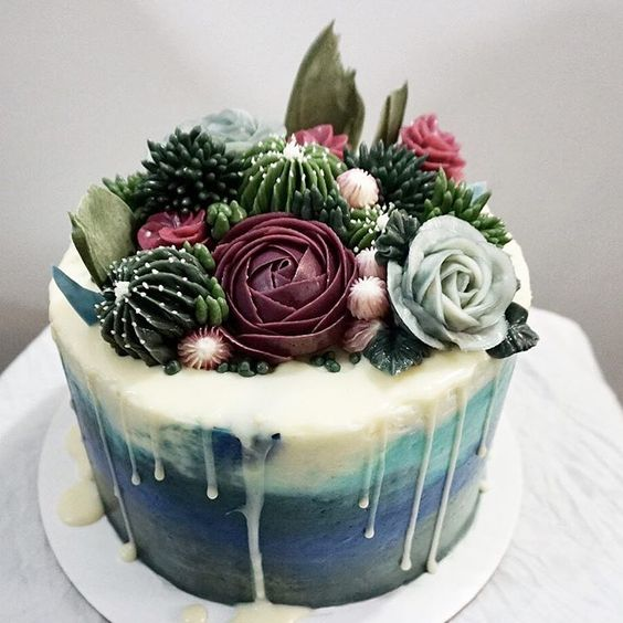 terrarium cake © 2018 Pinterest
