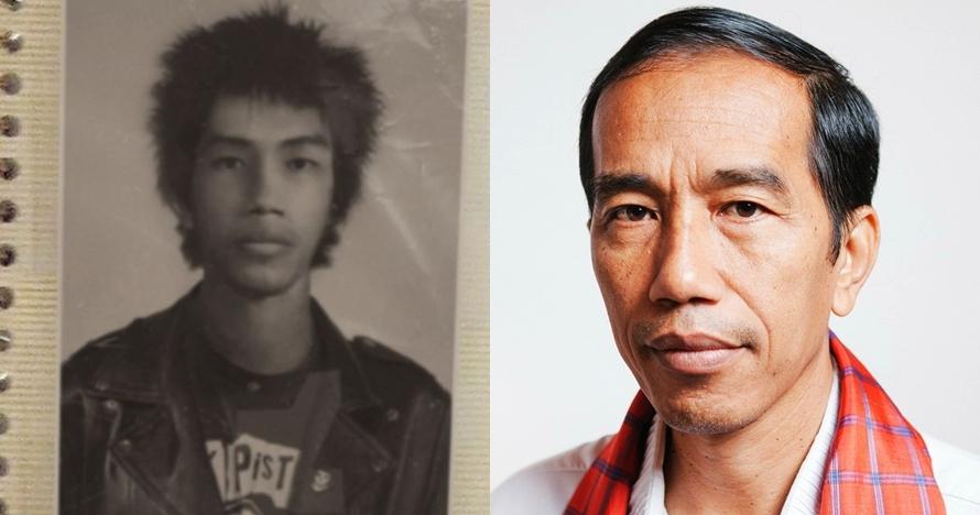 Beredar foto lawas pria mirip Jokowi berambut punk, ini klarifikasinya