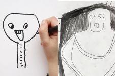 Begini kalau 10 gambar karya bocah ada di kehidupan nyata, bak alien