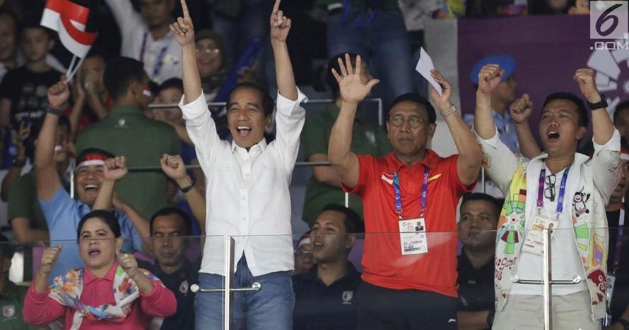 8 Ekspresi Presiden Jokowi nonton Asian Games 2018, heboh banget