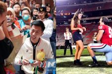 7 Atlet ini lamar pacarnya di arena pertandingan, bikin penonton baper