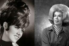 10 Potret rambut modis era 1960, bentuknya lebih besar dari kepala