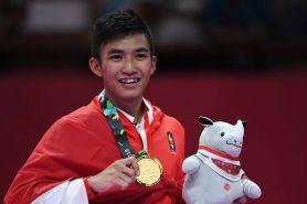 Karateka ganteng penyumbang emas ke-11 ini ternyata anggota TNI AD