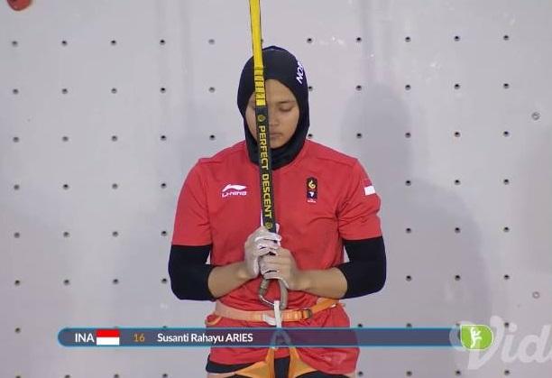 Keren, regu putri panjat tebing sumbang medali emas ke-21 Indonesia