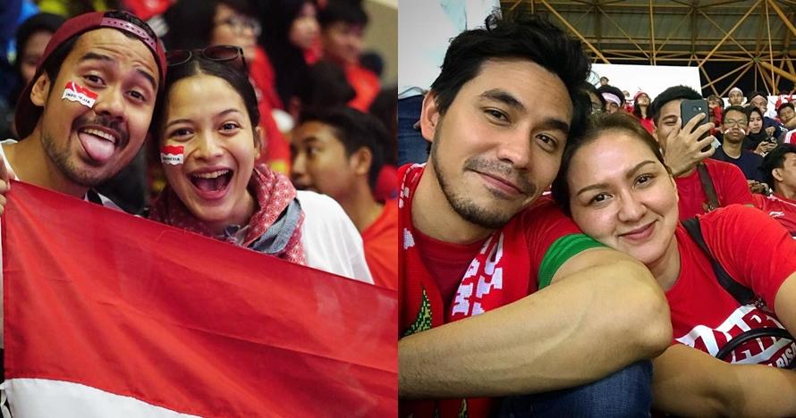 7 Pasangan seleb nonton langsung Asian Games, membaur sama suporter