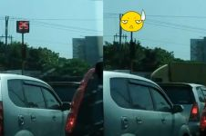 Lampu lalu lintas ini durasi hijaunya cepat banget, tak sempat ngegas