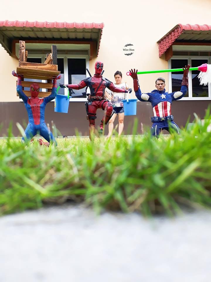 aksi superhero sehari-hari © Facebook/wirehon.ng