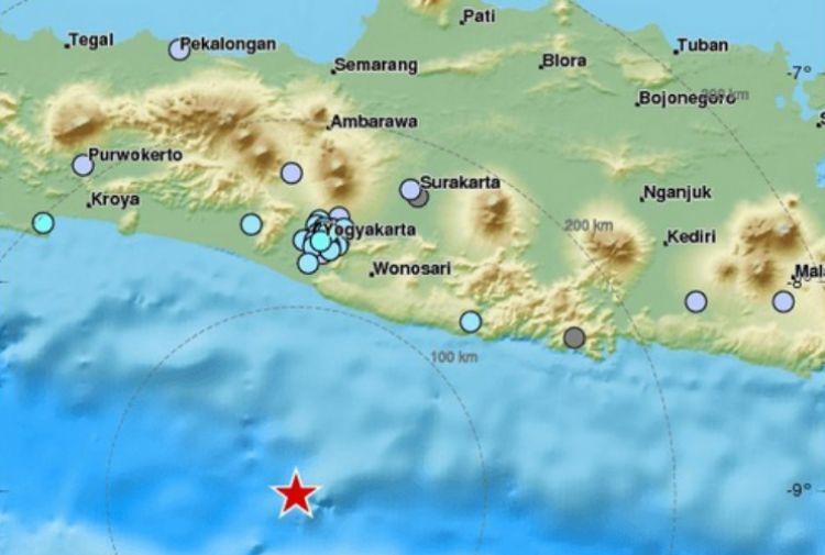 Gempa dirasakan warga Yogya, 5,8 SR berpusat 112 KM dari Gunungkidul
