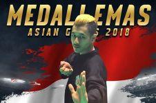 Bangga bisa sumbangkan emas ke-29, atlet ini memeluk Jokowi & Prabowo