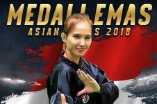 Raih emas ke-30, Wewey pesilat cantik nge-vlog bareng Presiden Jokowi