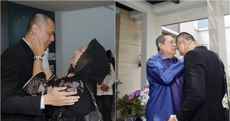 9 Potret penyambutan AHY-Anissa pulang haji, penuh haru