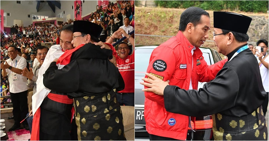 10 Momen hangat kebersamaan Jokowi-Prabowo nonton final pencak silat