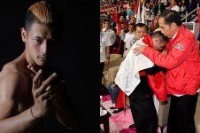 10 Gaya keren Hanifan Yudani, pesilat yang memeluk Jokowi & Prabowo