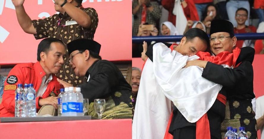 Begini tanggapan Prabowo usai diajak Hanifan berpelukan bareng Jokowi