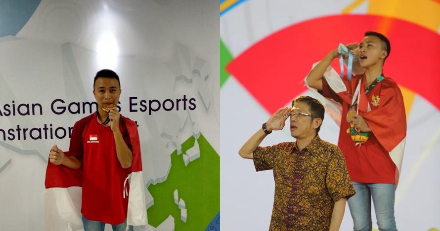 10 Potret kemenangan Ridel Yesaya, peraih medali emas eSports
