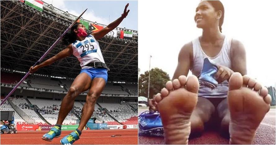 Kisah wanita berjari kaki 12 peraih emas atletik Asian Games 2018