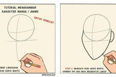 Tutorial 6 langkah sketsa wajah bagi pemula ini hasilnya bikin kaget