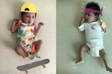 Ayah ini super kreatif, edit 9 foto sang anak bak atlet profesional