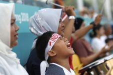 Penuh semangat, ini 10 ekspresi heboh suporter cilik di Asian Games