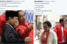 7 Dialog imajinatif Jokowi & Prabowo foto berdua ini bikin ngakak