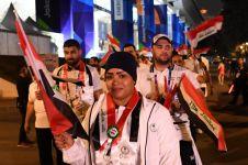 Pulang ke negaranya, atlet Irak ini nyanyikan lagu Indonesia Raya