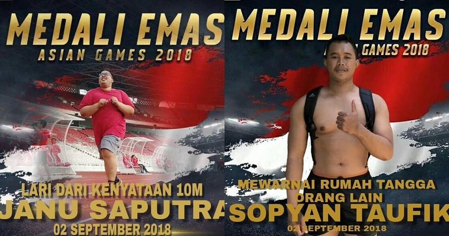 10 Editan kocak medali Asian Games ala netizen, mau ngakak tapi gemes