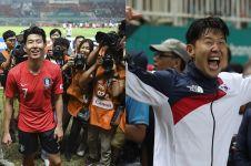Bebas wamil, ini 10 ekspresi bahagia Son Heung-min selama Asian Games