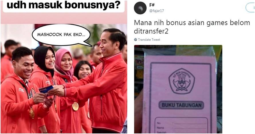 8 Lelucon soal pemberian bonus atlet Asian Games ini bikin cekikikan
