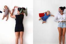 Cuma pakai tembok, 6 foto bayi bisa terbang ini hasilnya kreatif abis