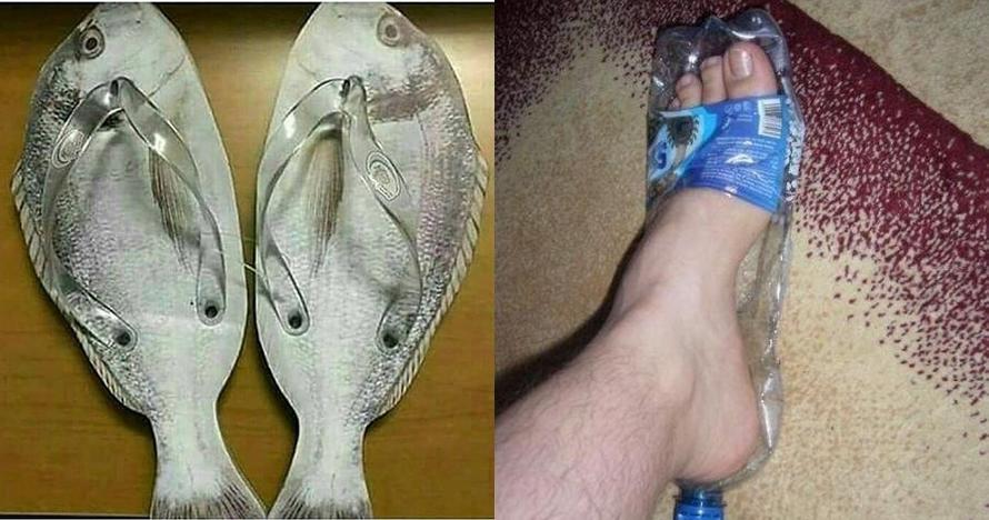 7 Kreasi sandal ala orang Indonesia ini absurdnya bikin cengar-cengir