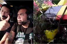 Erix Soekamti kecelakaan saat naik pesawat latih, begini kondisinya