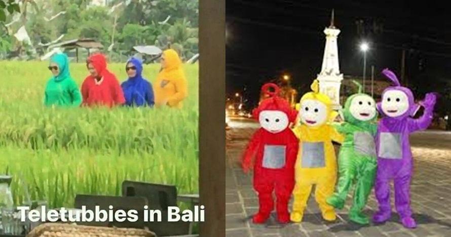 7 Potret seandainya Teletubbies tinggal di Indonesia, kocak banget