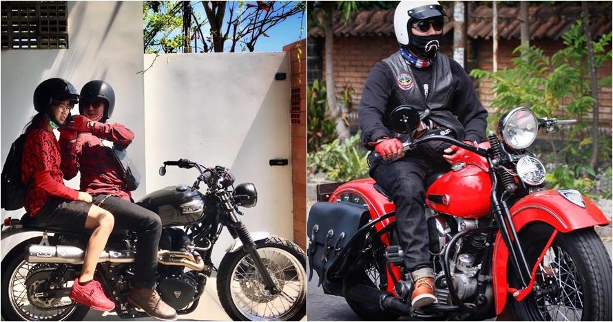 10 Potret suami Soimah di atas motor, penampilannya sangar