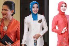 10 Momen Iriana, Atalia & Siti Atikoh kompak berkebaya merah di Istana