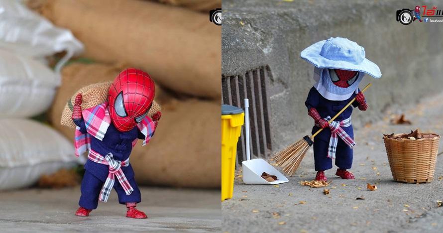 10 Potret jika Spider-Man alih profesi jadi pekerja kasar, gagal keren