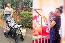 Jadi ibu baru, begini 9 gaya Vicky Shu saat momong anak