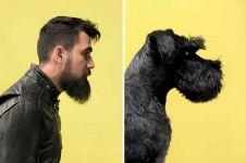 10 Foto unik hewan peliharaan berpose mirip pemiliknya