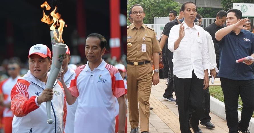 Jadi ketua timses pilpres, ini 8 potret akrab Erick Thohir dan Jokowi