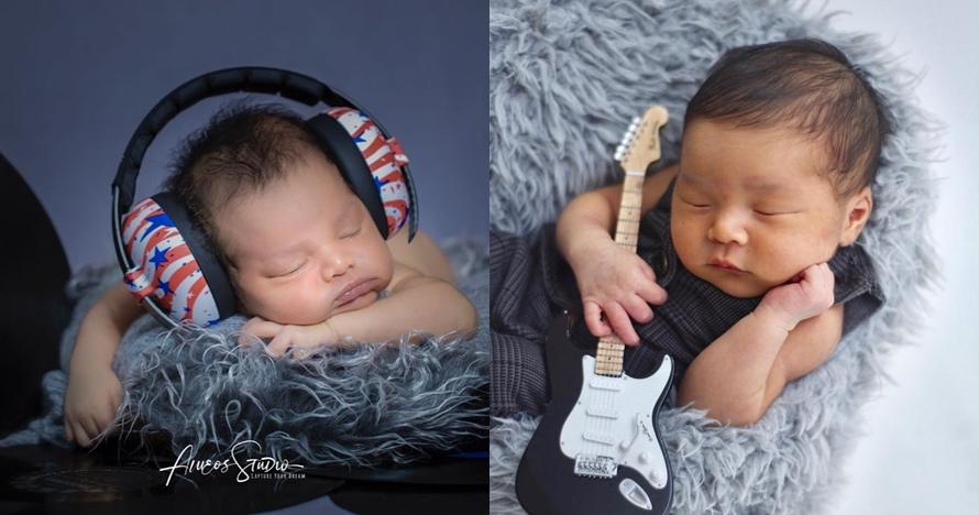 5 Anak penyanyi ini pemotretan newborn bertema musik, gemesin abis