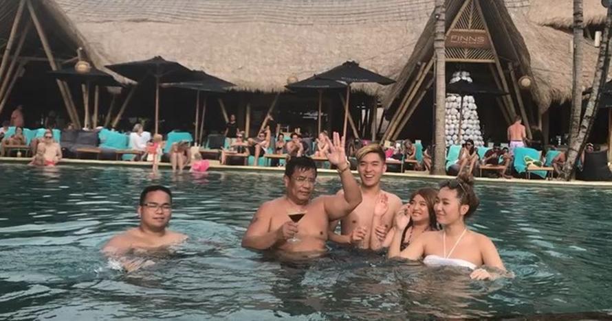 Party bareng di kolam renang, ekspresi putra Hotman Paris jadi sorotan