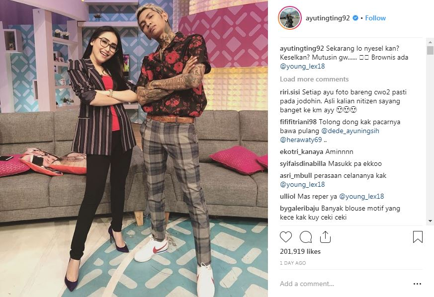 ayu ting ting young lex © 2018 instagram