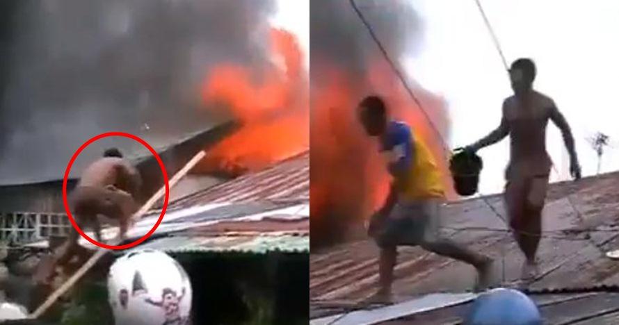 Bantu padamkan api saat kebakaran, pria ini justru alami kejadian apes