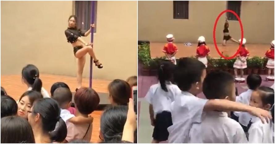 Miris, sekolah ini tampilkan penari striptis di depan anak-anak TK